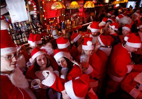 Santa Con girls